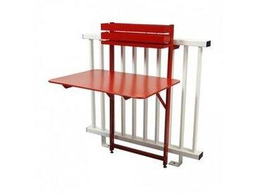 fermob Bistro - Table de Balcon - coquelicot/satiné plat/pliant/77x57x115cm