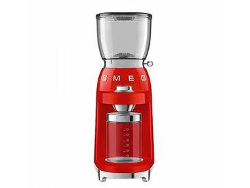 Smeg Moulin à café CGF01 - rouge/laqué/3 degrés de broyage/8 programmes de meulage programmés