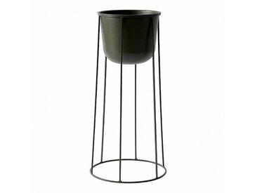 Menu Pot à fleurs avec cadre Wire 60cm - vert olive/revêtu par poudre/H 60cm, Ø 23cm