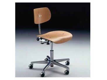 Chaise pivotante S 197 GH - hêtre naturel/SERVOLIFT® 42- 54cm/structure aluminium/H réglable 60- 84cm/incl. rouleaux pour sols durs et moquette
