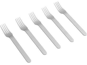 HAY Set de 5 fourchettes Everyday - acier inoxydable/brossé/Lxl 2,5x19cm