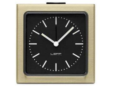 leff amsterdam LEFF Block - Réveil - noir/laiton/BxH: 8.5x8.5x6cm/types chiffres: index