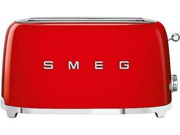 Smeg Grille-pain 4 tranches TSF02 - rouge/laqué/LxHxP 41x20,8x21,5cm/6 niveaux de brunissement/1500W