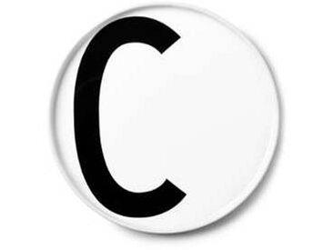 Design Letters - Assiette en porcelaine C - blanc/Ø: 20cm