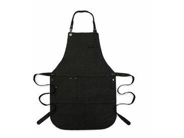 Röshults Tablier cuisine BBQ cuir - noir/1 poche/LxP 85x64cm
