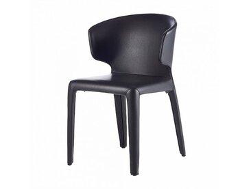 Cassina Hola - Chaises avec accoudoirs - noir graphite/cuir Pelle Scozoa/PxHxP 52x79x55cm