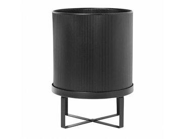 ferm LIVING Bau Pot - Pot à fleurs L - noir/laqué/H: 38cm Ø: 28cm