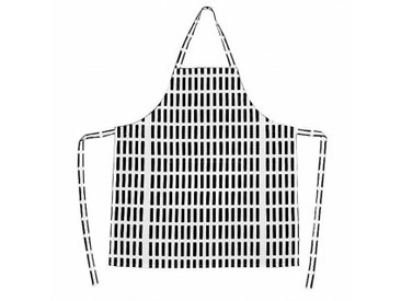 Artek Siena - Tablier de cuisine - blanc/noir/78x85cm
