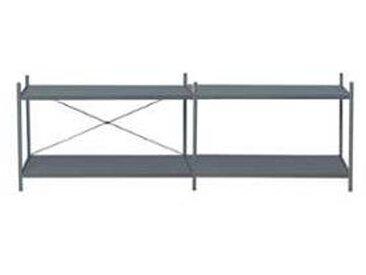 ferm living Système d'étagère 2x2 Punctual - bleu foncé/poudre revêtue/PxHxP 186,2x55x42cm/4 étagères
