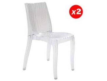 Lot de 2 chaises DUNE empilables / Transparent