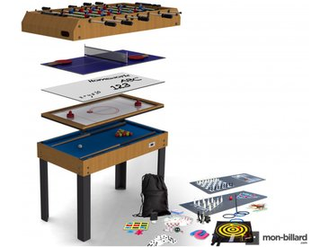 Table Multi Jeux Riley 21 en 1