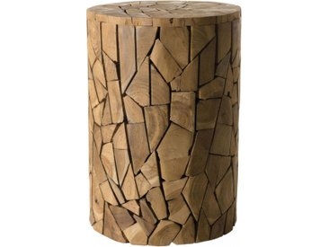 Table d'appoint ronde teck mosaïque – SAMY