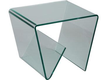Porte revues design en verre trempé courbé