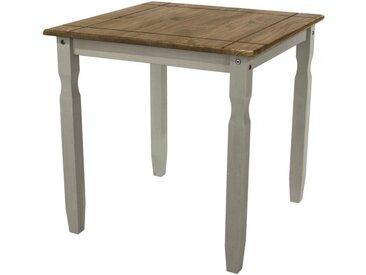 Table carrée pin gris - CANOAS