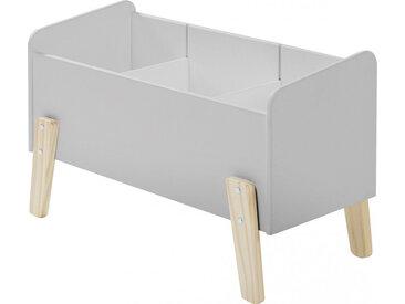 Coffre à jouet gris clair 2 étagères verticale - KIDDY