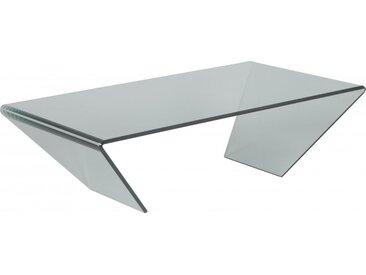 Table basse design en verre trempé courbé
