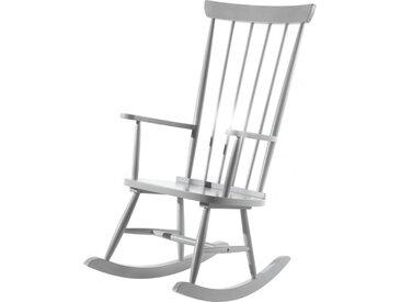 Chaise à bascule bois massif gris