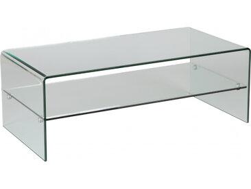 Table basse design en verre trempé courbé 1 rayon