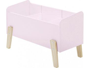 Coffre à jouet rose 2 étagères verticale - KIDDY