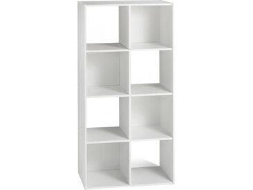 Etagère de rangement blanc 8 niches