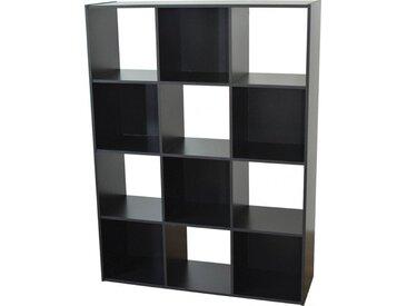 Etagère de rangement noir 12 niches