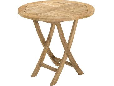 Table ronde pliante teck Ø80