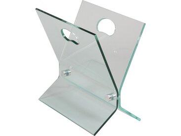 Porte revues verre courbé