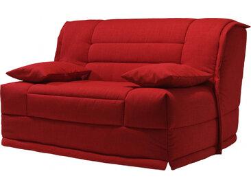 Banquette BZ tissu chiné rouge matelas 140x200 Sofaconfort mousse