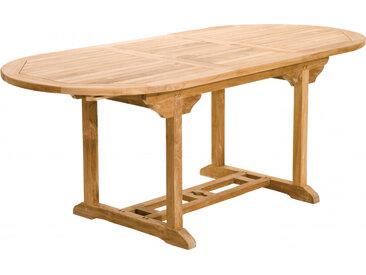 Table ovale teck 1 allonge papillon L150