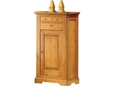 Bonnetière chêne H140 1 porte 3 tiroirs