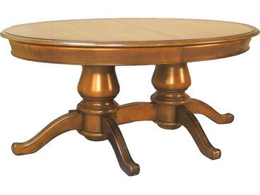 Table ovale merisier L180 2 pieds 2 allonges