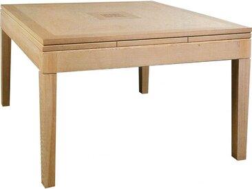 Table carrée chêne L135 2 allonges
