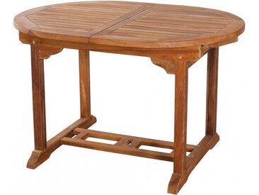 Table ovale teck naturel 1 allonge papillon L120