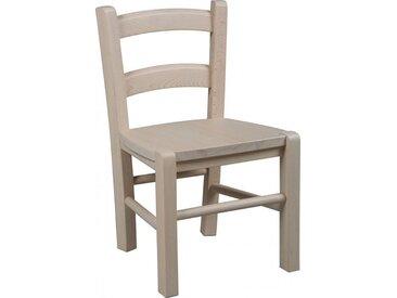 Chaise enfant hêtre blanchie