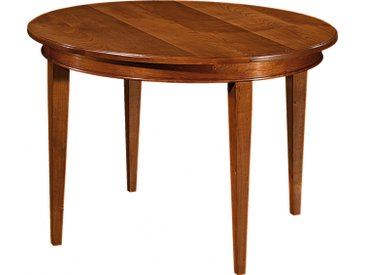 Table ronde merisier Ø120 pieds fuseau