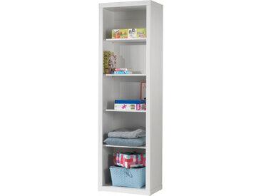 Bibliothèque enfant laqué blanc 4 étagères ROBIN