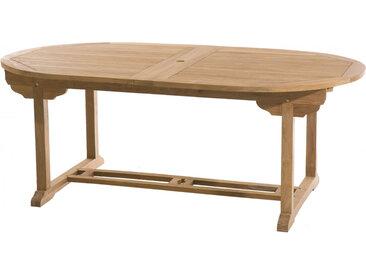 Table ovale teck 2 allonges papillons L200
