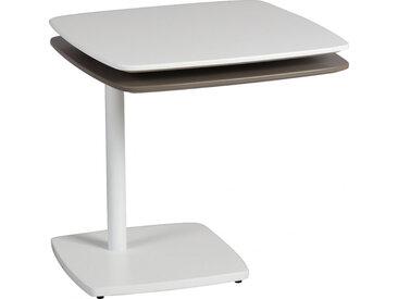Bout de canapé modulable acier blanc et gris clair