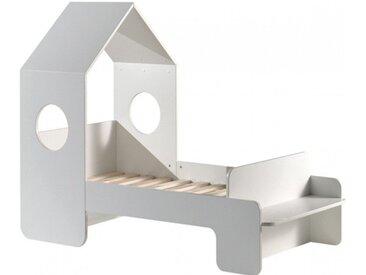 Lit cabane enfant blanc 70x140