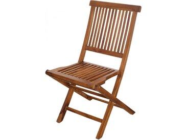 Chaise pliante teck naturel