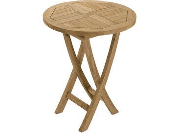 Table ronde pliante teck Ø60