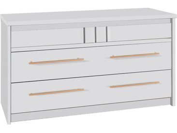 Commode merisier blanc volga 3 tiroirs - OCEA