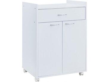Meuble de rangement de cuisine blanc 2 portes 1 tiroir
