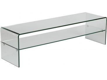 Banc TV design en verre trempé courbé 1 rayon L80