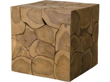 Cube teck mosaïque nature - SAMY