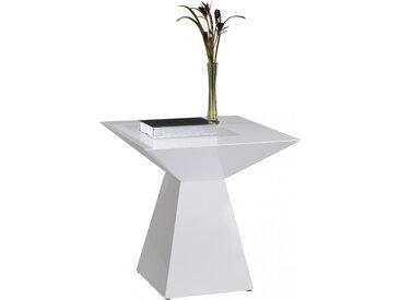 Bout de canapé design laqué blanc brillant