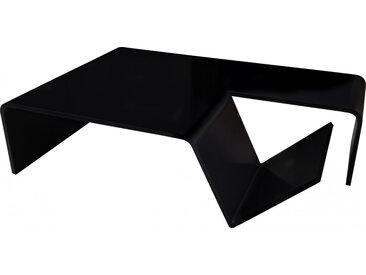 Table basse design porte-revues laque noire