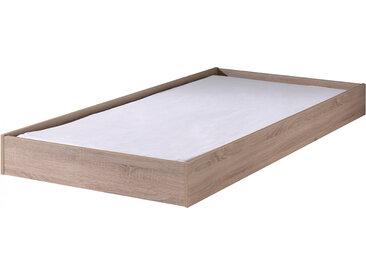 Tiroir de lit 90x190 MDF plaqué chêne clair – ALINE