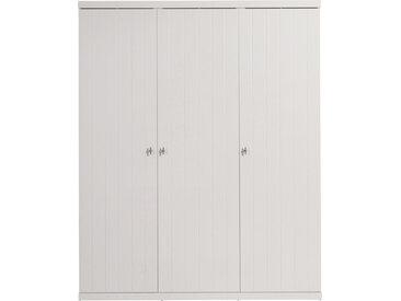 Armoire enfant laqué blanc 3 portes ROBIN