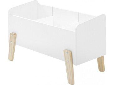 Coffre à jouet blanc 2 étagères verticale - KIDDY
